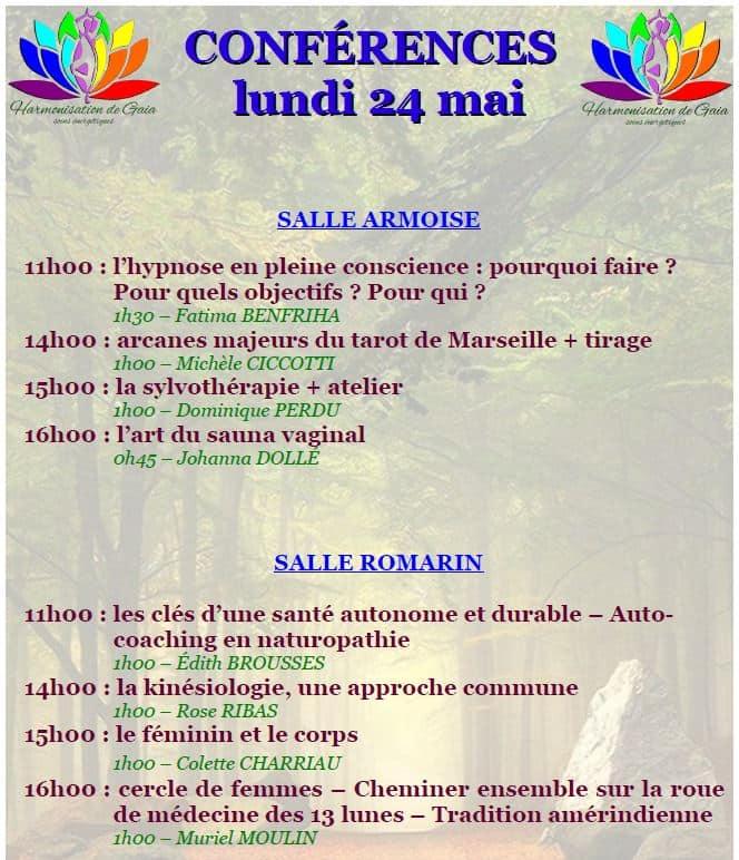 "Conférences 24 mai 2021 ""Harmonisation de Gaïa"" Forcalquier"