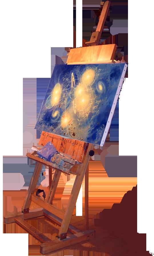 Clats pas pas fran ois schlesser peinture - Chevalet de table peinture ...